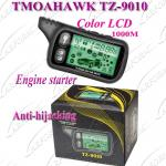 TOMAHAWK TZ-9010 Russian Version 2 Way Paging Car Alarm System with 1000m LCD Remote