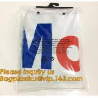 waterproof pvc swimwear bagwith hanger/pvc bikini bag/plastic bikini packaging bag plastic ziplock bag swimwear  bagease