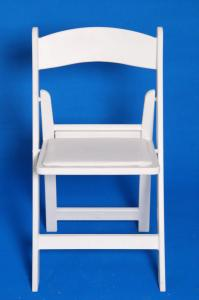 China Fireproof Resin Folding White Chair , Lightweight Plastic Outdoor Chair BIFMA on sale