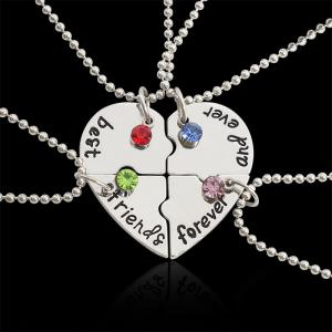 China Simple design stainless steel best friend&sisters couple necklace broken necklace on sale