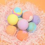 Wholesale 100% Natural Kids Toys Inside Fizzy Bath Bomb cbd Oil Spa Bath Bombs Colorful With Petals Moisturize Skin