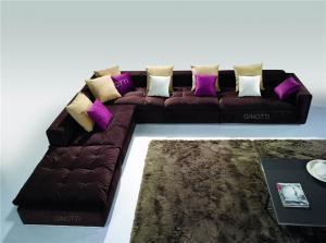Quality 優雅なモジュラー角のソファーの家具、現代的な生地のソファー セット for sale