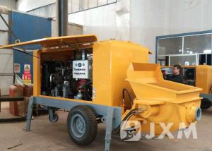China Professional Mobile Concrete Pump HBTS20-8  With Diesel Engine For Construction on sale