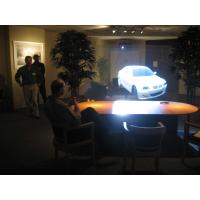 Vivid 3d Holographic Rear Projection Screen Film Art LED Lighting For Product Launches
