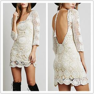 China Girls fahsion scoop back short sleeve lace mini without dress, two piece dress on sale