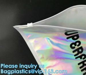 China Metallized mailer pac Hologram Shiny Foil Glamour Holographic Mailers Metallic Mailer Apparel garment clothes Packaging on sale