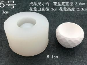 China Cement mold for succulent plants, silicone mold for flower pot on sale