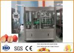 Peach \ Apricot \ Ou Li 6000 Bottles Of Glass Bottle Beverage Production Line Per Hour