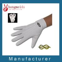 China White cotton parade gloves on sale