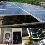 bomba de água 7.5KW solar + inversor da bomba + sistema inteiro do grupo do painel 10.2KW solar