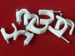 Wire Fastening  Round Nail Cable Clip PE and Steel Material White / Black
