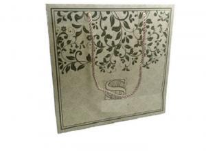 China Gold Ribbon Kraft Paper Bags 157-250 Gram CMYK Four Color Offset Printing on sale