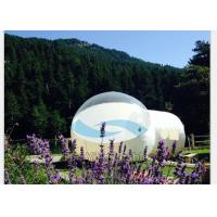 Transparent Inflatable Bubble Tent Night , PVC Tarpaulin Inflatable Bubble Room