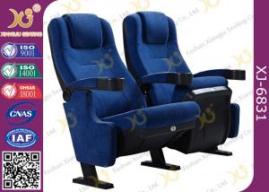 China Foldable PU Foam Inner Material Theatre Seating Chairs With Fabric Upholstery on sale