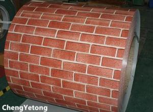 China Brick Grain Prepainted Stainless Steel Strip Coil For Exterior Wall Decoration on sale