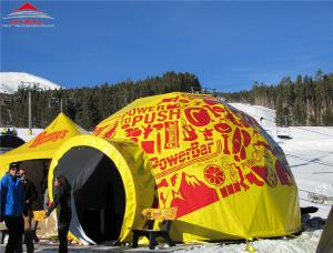China Cube Double Decker Tent With Two VIP Flooring / Large Geodesic Tent on sale