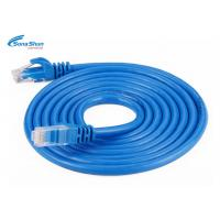 China Flexibile RJ45 Cat5e Patch Cable Custom Length Phosphor Bronze IDC  Blades on sale