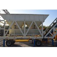 YHZS50 JS1000 Concrete Batching Plant Mobile Type With 50 M³/H Capacity