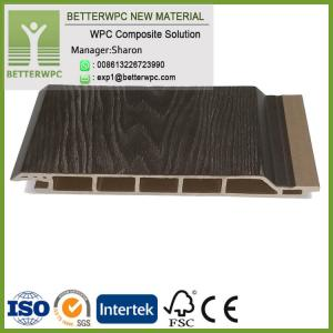 China Manufacturer Mould Proof Enterior Decorative Waterproof Fire Resistant Wood Plastic Composite Wall Panel WPC Cladding on sale