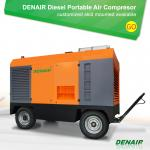 7/8/10 bar Diesel Engine Driven Portable Mobile Rotary Screw Type Air Compressor