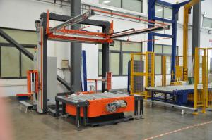 China High Power Auto Pallet Wrapper / Fully Automatic Stretch Wrap Machine on sale