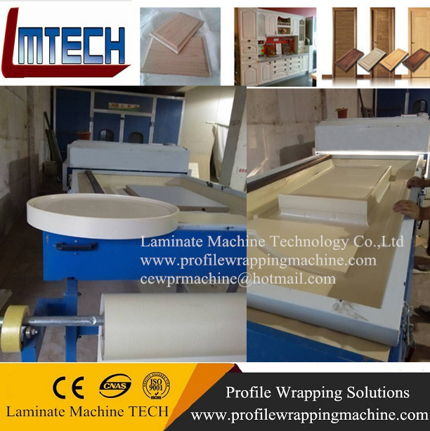 wood door making vacuum membrane press machine