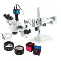 Auto / Manual Control Portable Trinocular Industrial Microscope For Phone Soldering