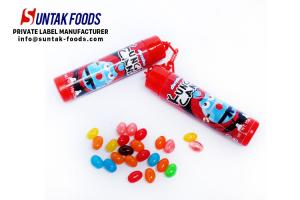 China OEM Novelty Candy Toys Nun Chucks Container with Assorted Fruit Jelly Bean on sale