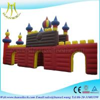Hansel popular PVC inflatable island for commercial castle