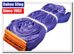 Long Purple Round Webbing Sling , 3 Ton Lifting Straps Smooth Surface