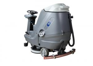 China Low Noise Riding Floor Scrubber Machine , Battery Operated Floor Scrubber 24v on sale