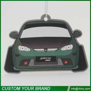 China Customized design car shape 2mm cotton paper air freshener for car home office on sale