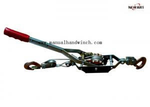 China Aircraft Grade Cable Heavy Duty Cable Puller 2T Double Gears Two Drop Forged Hooks on sale