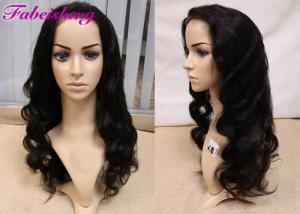 China Перуанская объемная волна париков фронта шнурка, перуанские парики человеческих волос для чернокожих женщин on sale
