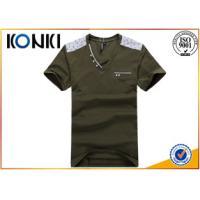 Beautiful Mens Short Sleeve V Neck T Shirts Printing Business
