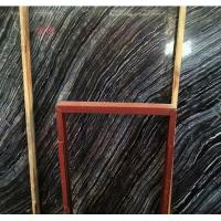 antique wood black marble stone slab