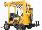 High Rotating Diamond Core Drilling Rig Mechanical Spindle Trailer Type 800m Depth