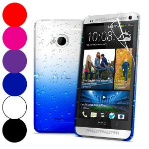 China Colorful 3D Water Drop Crystal Hard Plastic Cell Phone Case , HTC One M7  Back Cover on sale