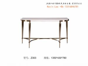 China Custom made furniture factory who supply hotel furniture console table and coffee table for Lobby Leisure furniture on sale