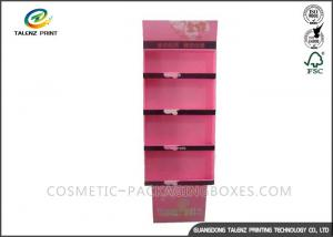 China Cosmetic POP Cardboard Display Stands Floorstanding For Skincare Products on sale