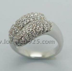 China 925 sterling silver ring, lady's ring on sale