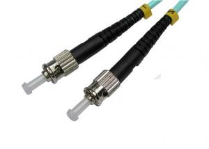 China Black FTTH simplex ST Fiber Optic Connector with Ferrule , PC / UPC on sale