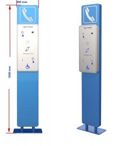 China Vandal Proof Hands Free SOS Telephone Pillar With Camera And Dual Auto Dial Button on sale