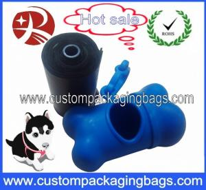 China Custom Corn Starch Biodegradable Dog Poop Bags With Logo Printed on sale