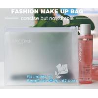 Plastic Makeup Brushes Bag For Women Zipper EVA Slider Gusset Cosmetic Bag, slider zipper bag/ cosmetic packaging, zip