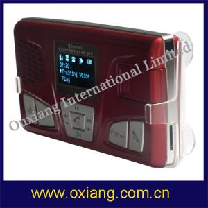 China Solar Charge Bluetooth Car Kit Support Voice Control and T-Flash and TF Card (OX-BC-668J) on sale