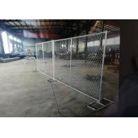 China Diamond Hole Shape Portable Chain Link Fence For Residential Housing Sites on sale
