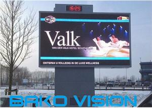 China P8/P10mm Full color Outdoor LED Screen display With High Brightness Fixed installation on sale