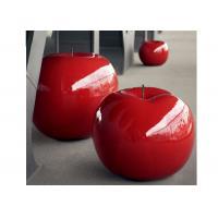 China Large Painted Sculpture Red Apple Decorative Fiberglass Sculpture 120 Cm High on sale