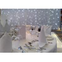Telecontrol Warm White LED Curtain Lights Led Star Curtain Backdrop 120W Power